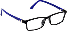 HRINKAR Black Rectangle and Square Bifocal and Single Vision Latest Optical Spectacle Chasama Frame - HFRM-BK-BU-15
