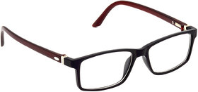HRINKAR Black Rectangle and Square Bifocal and Single Vision Latest Optical Spectacle Chasama Frame - HFRM-BK-BWN-17