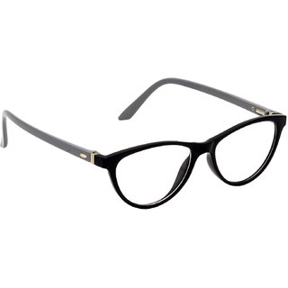 HRINKAR Black Rectangle and Square Bifocal and Single Vision Latest Optical Spectacle Chasama Frame - HFRM-BK-GRY-13