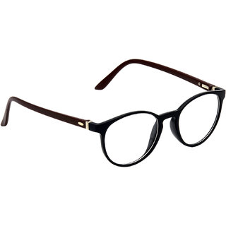 HRINKAR Black Rectangle and Square Bifocal and Single Vision Latest Optical Spectacle Chasama Frame - HFRM-BK-BWN-14