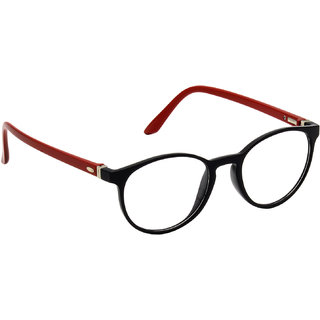 HRINKAR Black Rectangle and Square Bifocal and Single Vision Latest Optical Spectacle Chasama Frame - HFRM-BK-RD-14