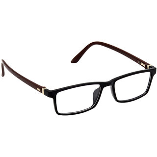 HRINKAR Black Rectangle and Square Bifocal and Single Vision Latest Optical Spectacle Chasama Frame - HFRM-BK-BWN-15