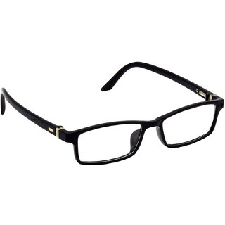 HRINKAR Black Rectangle and Square Bifocal and Single Vision Latest Optical Spectacle Chasama Frame - HFRM-BK-18