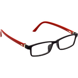 HRINKAR Black Rectangle and Square Bifocal and Single Vision Latest Optical Spectacle Chasama Frame - HFRM-BK-RD-18