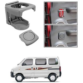 KunjZone Foldable Car Drink/Can/Glass/Bottle Holder Set of 2 Grey for Maruti Suzuki Eeco