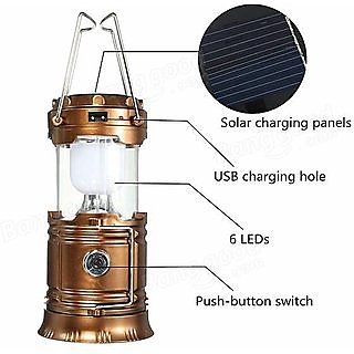 Favourite Deals Rechargeable Lamp With USB Charging ( Brown )