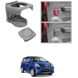 KunjZone Foldable Car Drink/Can/Glass/Bottle Holder Set of 2 Grey for Toyota Wigo