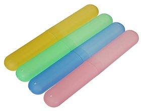 Plastic Toothbrush Tube Cover Cases, toothbrush holder Pack Of 2