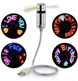 Ever Forever USB Powered Programmable LED Message Fan