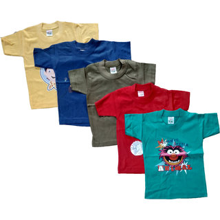 CH FASHION Multicolor kids Tshirt (Combo of 5)