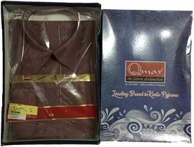Varun Cloth House Unstiched Embroided Neck Sherwani Kurta With White Pyjama (vch4025, Purple)