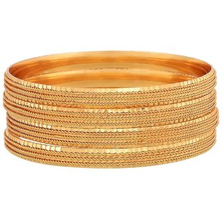 YouBella Gold Plated Bangles Jewellery For Girls/Women (2.4)
