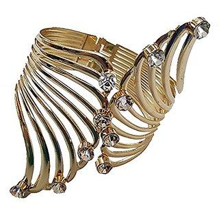 YouBella Jewellery Stylish Fancy Party wear Bangle Bracelet for Girls and Women (Gold)
