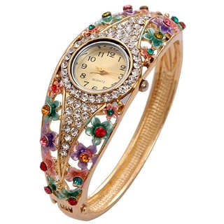 Valentine Gifts : YouBella Luxury 18k Rose Gold Bangle Watch Bracelet Jewellery For Girls and Women