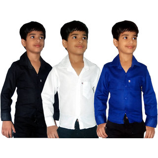 Freaky Pack Of 3 Kids Casual Cotton Shirts