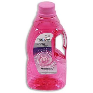 Nayasa Noteworthy Pretty Pink Food Grade Plastic Water Bottle 1 Pc 1500 ml with Handle for Home Office Travelling