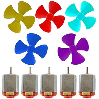 Buy Techamazon 5 Small Electric Dc Toy Motor With Fan Or 3v To 9v Dc
