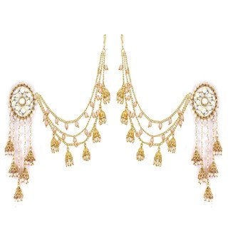 YouBella Jewellery Traditional Stylish Gold Plated Pearl Fancy Party Wear Jhumka/Jhumki Earrings for Girls and Women