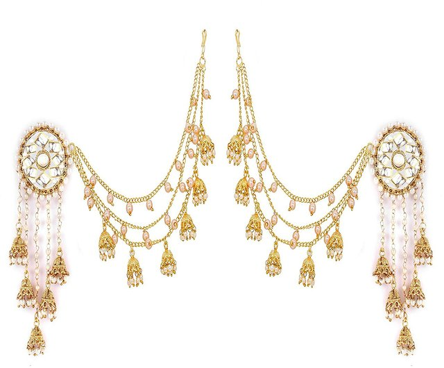 04a22008db1bb YouBella Jewellery Traditional Stylish Gold Plated Pearl Fancy Party Wear  Jhumka/Jhumki Earrings for Girls and Women