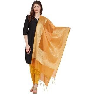 Kvsfab Orange color Chandari Dupatta KVSDP104A