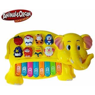 GETITBAE Baby Elephant Animal Piano with Real Animal Sound, Piano Sound ,LED Flash Light