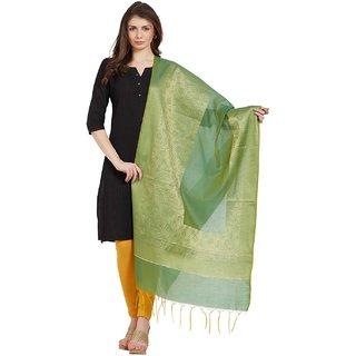 Kvsfab Green color Chandari Dupatta KVSDP104C