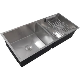 JNS KITCHEN SINK  45x20x9 Double Bowl Stainless Steel REPUTED Sink