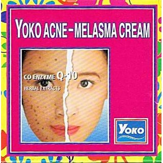 Yoko Acne Melasma Cream Herbal Formula 4g (Pack of 2)  ORIGINAL