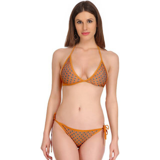 Fashion Comfortz Yellow Bikini For Women