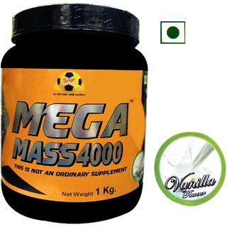 Sap Nutrition Mega Mass 4000 1Kg Vanilla Flavour