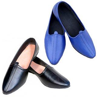 Vitoria Slip on Smart Formals Black  Blue Jutti  Combo For Girl