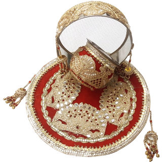 Karwa Chauth Combo Set (Gota)