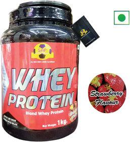 Sap Nutrition Whey Protein 1Kg Strawberry Flavour