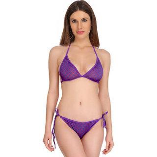 Fashion Comfortz Purple Polkadot Bikni Set