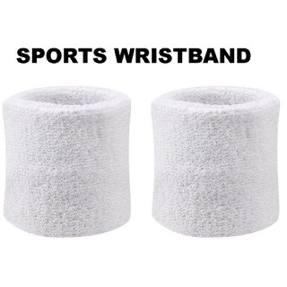 Sports Wristband 1 pair (White)
