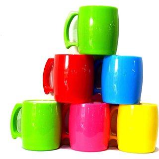 Pin To Pen Bpa Free Unbreakable Tea Coffee Mugs Trendy Set Of 6 Plastic