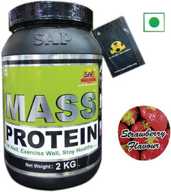 Sap Nutrition Mass Protein 2kg Strawberry Flavour