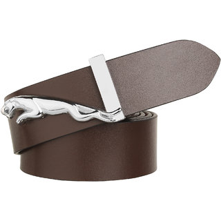 Styles Creation Men's Stylish Casual, Semi Formal Brown Genuine Leather Belt (BELTLD02)
