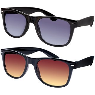 a12e3d880b Buy Ansh Blue Bay unisex wayfarer fashion sunglasses (pack of 2 ...