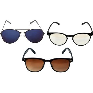 57cc17037d Buy Ansh Blue Bay unisex fashion sunglasses(pack of 3) Online - Get 35% Off