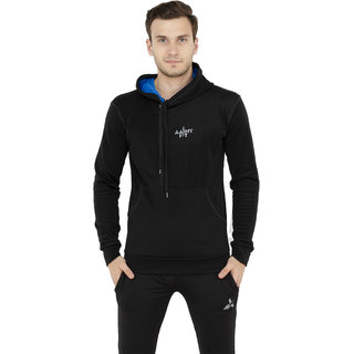 aarmy fit hooded black mens jacket
