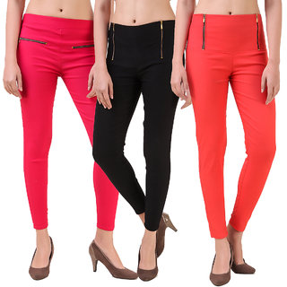 Christy World Multicolor Lycra Jeggings