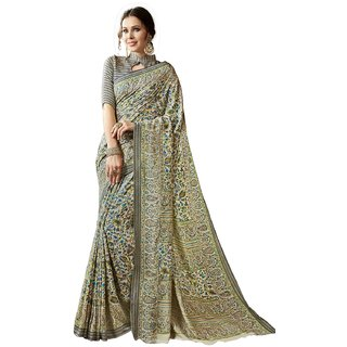 Swaron Multicolor Pashmina Printed Saree with Unstitched Blouse