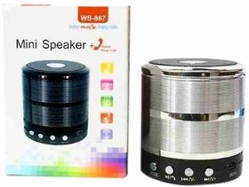 MOBILE rechargeable speaker with aux multicolor