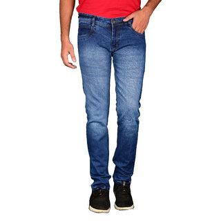 Waiverson Men's Stretchable Light Blue Jeans