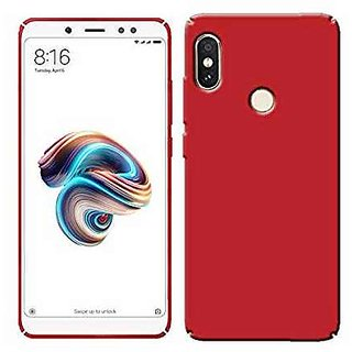 cheap for discount 76694 20299 4Cut Matte Finish Rubberised Hard Back Case Cover For Xiaomi Redmi Note 5  Pro - Red