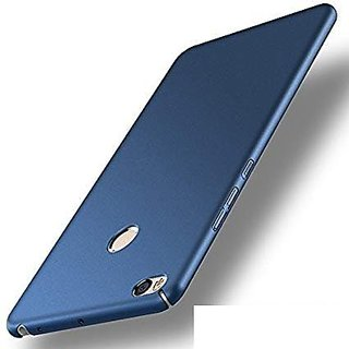 designer fashion 4f862 f0c03 4Cut Matte Finish Rubberised Hard Back Case Cover For Xiaomi Mi Max 2 - Blue