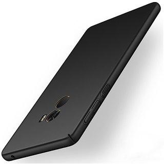 4Cut Matte Finish Rubberised  Hard Back Case Cover For Xiaomi Mi Mix 2 - Black