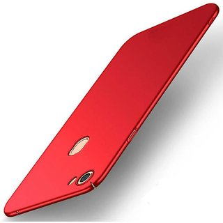 4Cut Matte Finish Rubberised  Hard Back Case Cover For Oppo F7 - Red