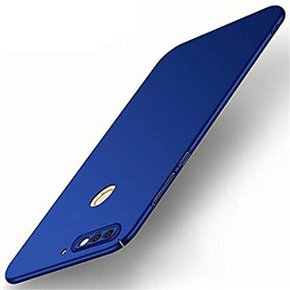 4Cut Matte Finish Rubberised  Hard Back Case Cover For Huawei Honor 7C - Blue
